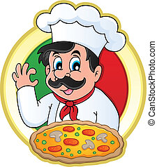 Chef theme image 7 - vector illustration.