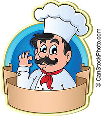 Chef theme image 3 - vector illustration.