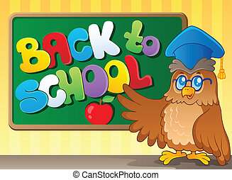 Back to school thematic image 3 - vector illustration.