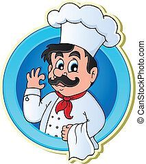 Chef theme image 2 - vector illustration.
