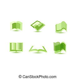 illustration of book icons