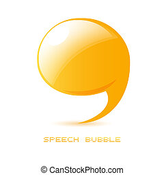abstract talking bubble
