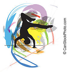 Dancing Vector Illustration