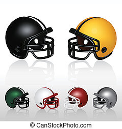 Football Helmets - Set of football helmets