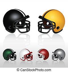 Football Helmets - Set of football helmets