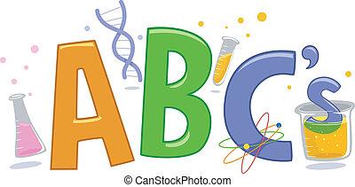 Ciencia, alfabeto