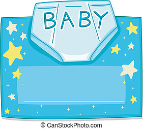 Card Design Diaper - Card Design Featuring a Baby Diaper