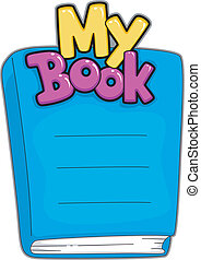 Book Name Plate - Illustration of a Customizable Book Name...