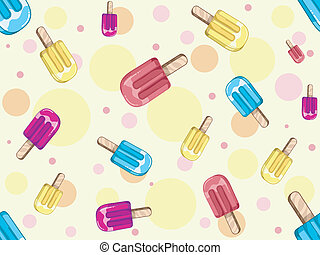 Popsicle Background - Background Seamless Illustration...