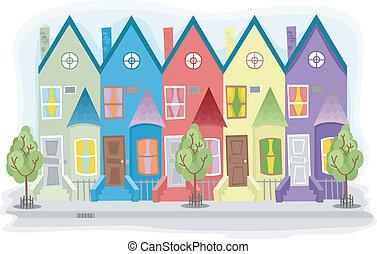 Apartment - Illustration of a Series of Apartment Units