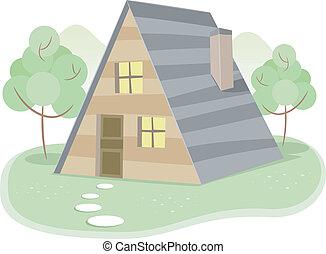 A-Framed House