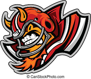 American Football Devil Mascot Wear - Graphic Vector Sports...