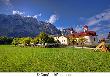 church and fresh mountain - Saint Bartholomew church in...