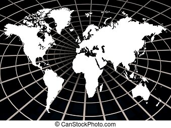 World Wide Web - Illustration of the world on a web