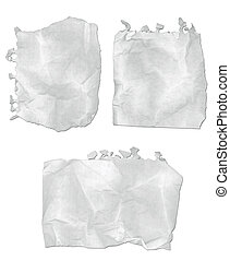 Ripped Paper Notepad - Collection of ripped and wrinkled...