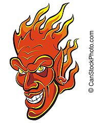 devils fire head