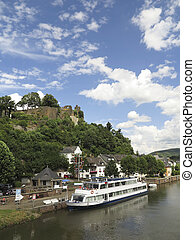 Cruising on the river in Germany - Cruiseboat on the river...