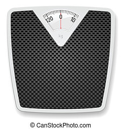 Bathroom Scale - Bathroom Weight Scale. Illustration on...