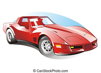 car - illustration of sport car