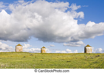 Three agriculture silos - Three traditional agriculture...