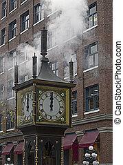 Steam Clock - Antique steam clock in Gastown, British...