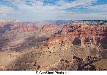 Arizona, aéreo, nacional, parque, desfiladeiro, grandioso, vista