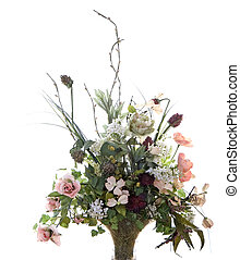 Silk Flower Arrangement - A beautiful and colorful silk...