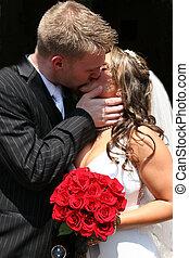 Noiva, Noivo, beijando