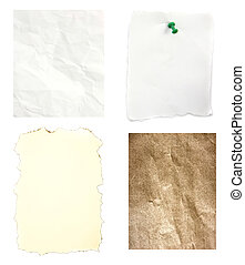 Mix crumpled old burn paper background