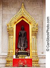 Buddha Image at wat benchamaborphit in Thailand