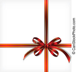 Red Gift Ribbon. Vector background - red gift ribbon over...