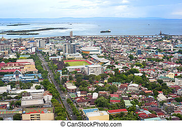 Cebu city - Panorama of Cebu city. Cebu is the Philippines...
