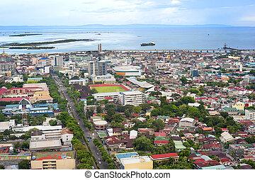 Cebu city - Panorama of Cebu city. Cebu is the Philippines...