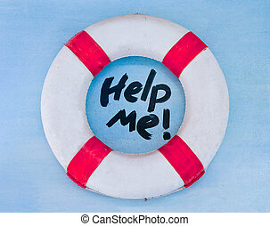 The Life buoy preserver on wall background - The Life buoy...
