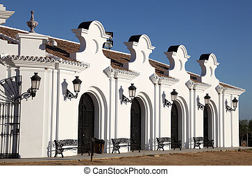 Building exterior in El Rocio, Andalusia, Spain