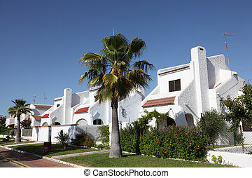 Residential buildings in Matalascanas, Province Huelva,...