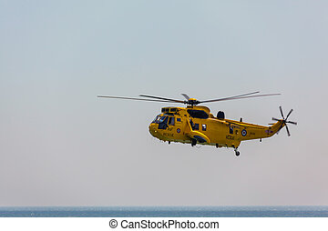 Sea King HAR3 helicopter display at Airbourne
