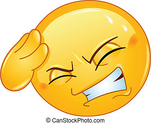 Headache emoticon - Emoticon with headache