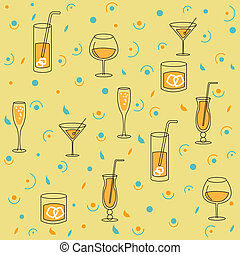 Seamless Background for Alcohol Pro - Seamless, Style...