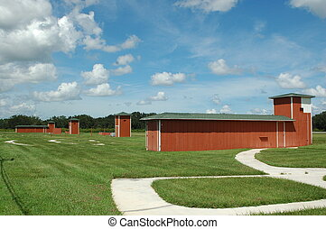 skeet and trap range - Skeet and trap shooting range at a...