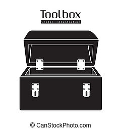 silhouette of a tool box - Illustration of silhouette of a...