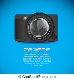 professional camera - Illustration of lens camera and...