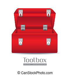 Illustration of a tool box isolated on white background,...