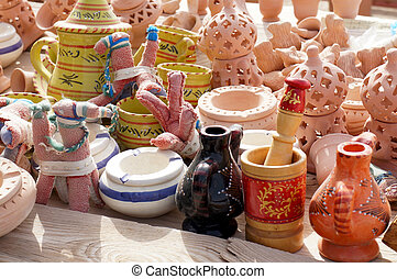 Ceramic objects and souvenirs
