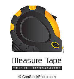 tape measure - Illustration of a tape measure on white...