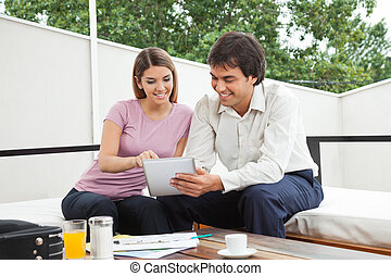 Architect Discussing With Female Client - Indian male...