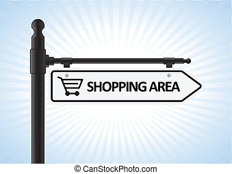 Shopping Sign - This image is a vector illustration...