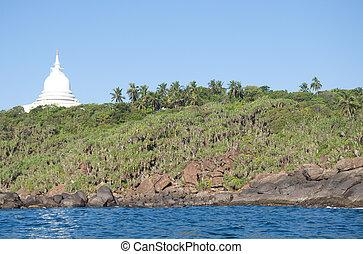 Dagoba in Unawatuna, Sri Lanka - Dagaba on the hillock...