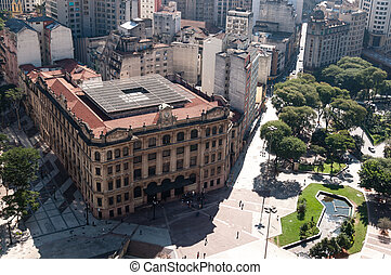 City of Sao Paulo, Brazil - Aerial view of the city of sao...
