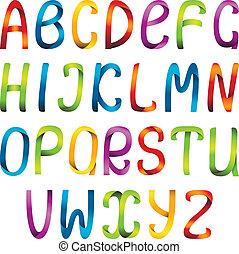 ribbon alphabet set